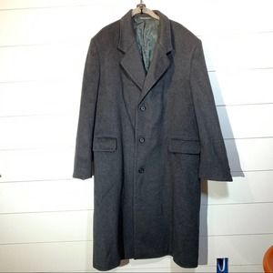 Tailors Row Finery Black Wool Cashmere Trench Coat